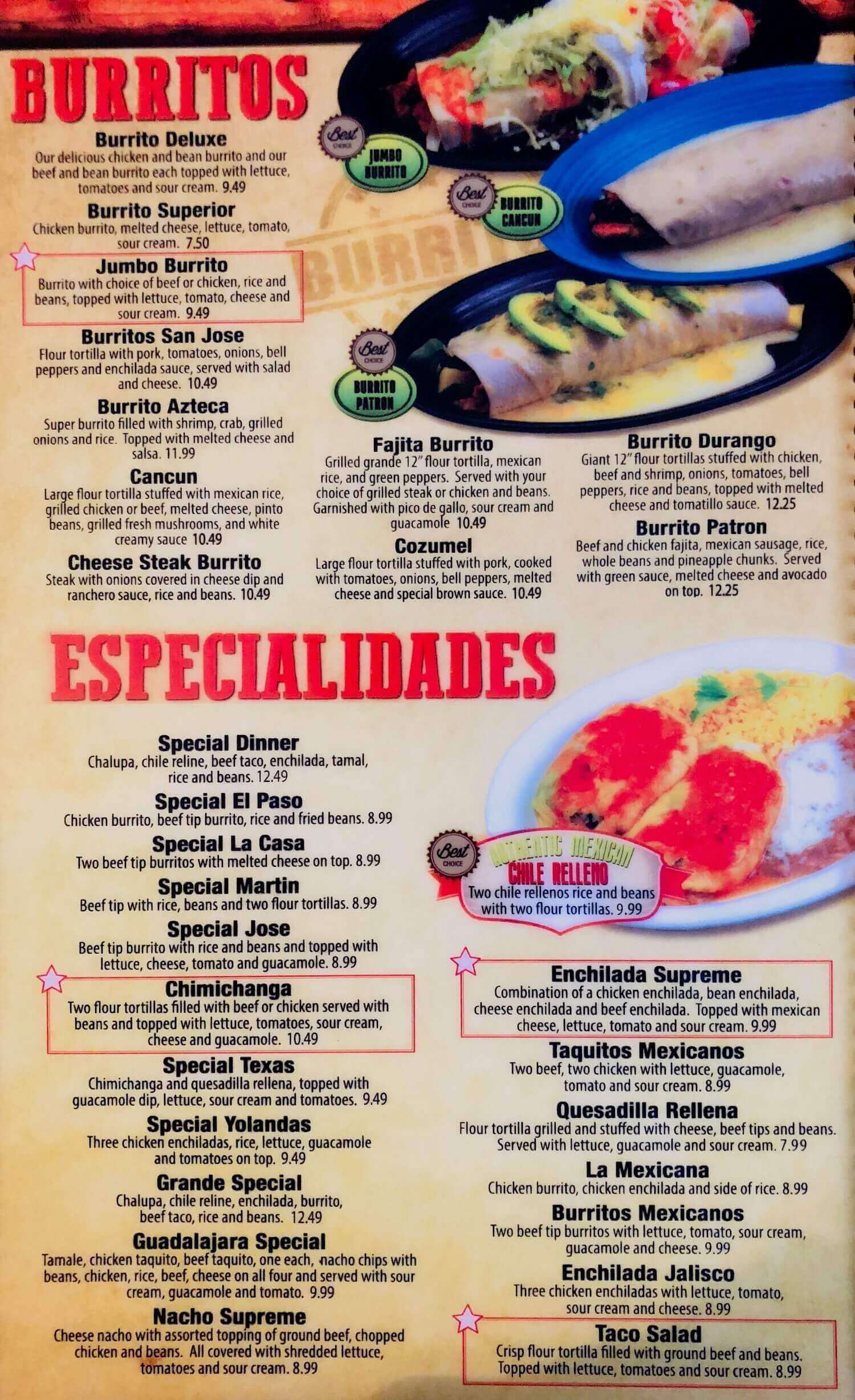 Don Patron Mexican Restaurant Fairborn Ohio Menu